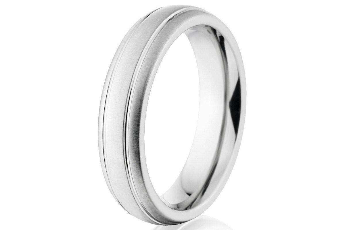 Cobalt Chrome Ring Cobalt Wedding Bands Cobalt Rings
