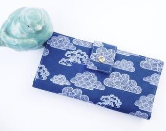 Women's wallet-vegan clutch wallet-Cloud Gift-gift for wife-organic wallet-travel wallet-passport wallet-Wallet for Women-Vegan Wallet
