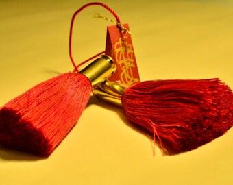 Masculine Bookmarks Bullet Tassel Bookmarks, ornaments  decoration in Marine Corps Red Schützenmarks