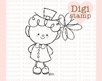 Sweet Leprechaun Digital Stamp - St. Patrick's Day Digital Stamp - Leprechaun Stamp - Leprechaun Art - St. Patrick's Day Craft Supply