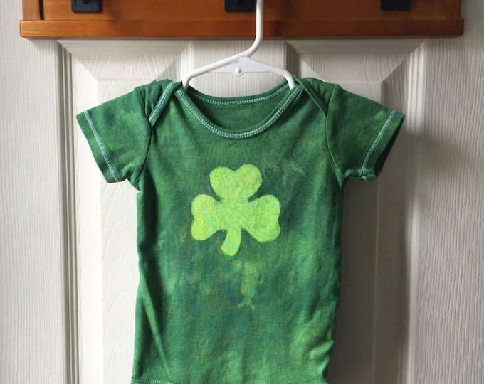 Shamrock Baby Bodysuit, St. Patrick's Day Baby Bodysuit, Baby Shamrock Bodysuit, Irish Baby Gift, Lucky Clover Baby Bodysuit (12 months)