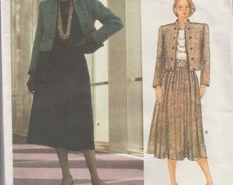 Vogue Paris Original 1276 / Vintage Designer Sewing Pattern By Yves Saint Laurent / Skirt Jacket Suit / Size 8