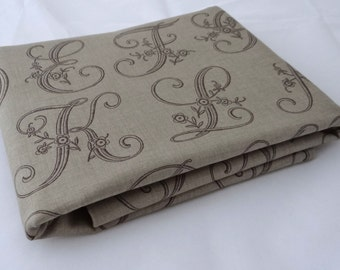 MADAME ROUGE Moda fabric 3 yds French General cotton shabby quilting sewing Kaari Meng reproduction Roche calligraphy 3 full yards 13772-14
