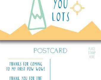 Tee Pee Thank You Postcard