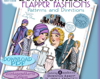 20's FLAPPER PATTERNS Downton Abbey Andover's Lady ROSE Fabric Pdf Edition Authentic 1920's Pattern Booklet Download
