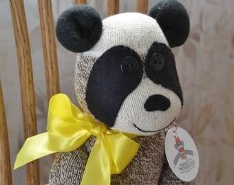Panda Bear, Sock Monkey Panda, Personalization Option