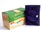 Tea Wallet Tea Bag Holder Purple Leaves