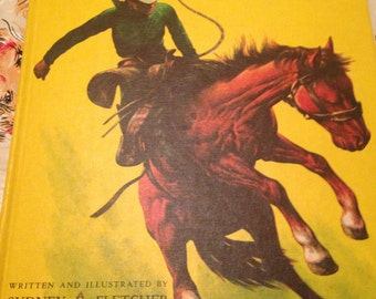 Vintage Big Book of Cowboys Picture Book Sydney Fletcher