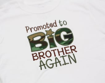 Big Brother Shirt - Promoted to Big Brother Again - Camo
