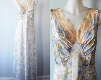 Vintage Nightgown, Vintage Floral Nightgown, 1970s Nightgown, Summer Nightgown, Nightgowns