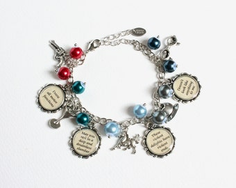 Artificial Human Quotes and Commands Charm Bracelet