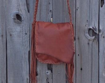 Handmade leather possibles bag, Crossbody handbag, Men's bag, Leather carry all , Leather bag for men