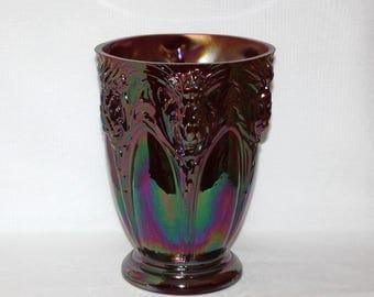 Fenton Red Carnival Glass Thistle Vase (894)