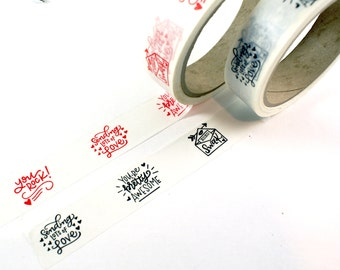 SHOP EXCLUSIVE - hand lettered WASHI Tape - you rock!, you're pretty awesome, swak, sending lots of love - 24 yards