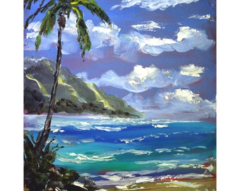 "Tropical Hawaiian Day fine art print 8"" x 10""  artbydennis"