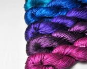 Rainbow punk - Gradient of Silk Tape Lace Yarn