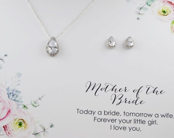 Mother of the bride jewelry set, Necklace and earrings set, Wedding Bridal set,Swarovski Crystal Necklace earrings, Bridesmaid Necklace,