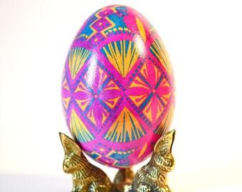 Gift for New Baby girl Goose pysanka Ukrainian Easter egg Ostereier Easter decorations Ei Kunst Pâques baby girl first Easter gifts