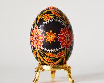 Pysanka traditional design Ukrainian Easter egg batik decorated  egg shell