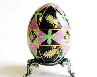 gift idea for summer celebrations birthdays engagements wedding showers real egg ornament made from chicken egg shell Ukrainian Easter egg