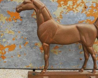 Vintage Horse Pontiac Foundry cast bronze solid metal Stallion Thoroughbred horse farm