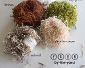 Y A R N. Squiggle Novelty Yarns, sold by the yard. Four colors to choose from.