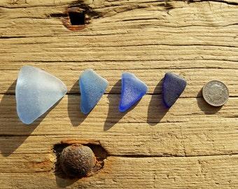 BLUE SEA GLASS Set | Scottish Sea Glass Shards | Sea Worn Jewelry Supplies | Scottish Beach Finds (6206)