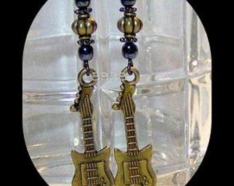 Guitar Earrings Choice of Earwires