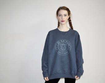 90s Vintage Club Monaco Emblem Graphic Minimalist Sweatshirt - 1990s Sweatshirts - 90s Clothing - WV0366