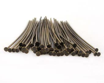 50 Tierracast Brass Oxide Headpins