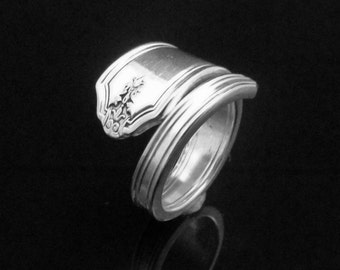 Spoon Ring, Vanity Fair 1924, Antique Silver Jewelry