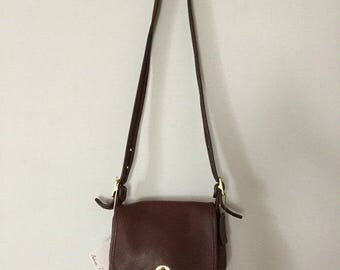 40% OFF SALE... Coach Wilson dark chestnut leather messenger bag