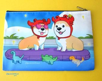 Pool Pawty Corgis  accessory bag