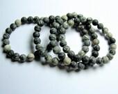 Silk Stone - 8mm round beads - matte - 23 beads - 1 set - Spider Jasper - A quality - HSG24