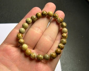 Picture Jasper - 1 set - 8mm - 23 beads - A quality  - HSG67