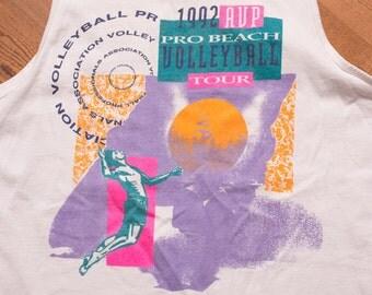 1992 AVP Pro Beach Volleyball Tour Tank Top, Beachwear Shirt, Vintage 90s