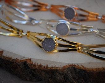 DRUZY EYE BRACELET  /// Gold, Silver or Rose Gold