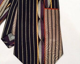 Vintage Silk Necktie, Essante Designer Tie, Menswear