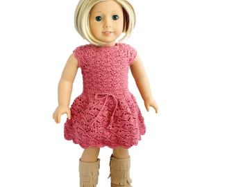 "Download Now - CROCHET PATTERN 18"" Doll Selena Dress Crochet Pattern"