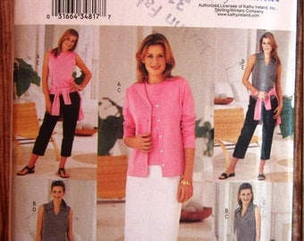 Very Easy to Sew Misses Wardrobe: Cardigan, Top, Skirt, Shorts and Pants Sizes 14 16 18 Butterick Pattern 3461 UNCUT