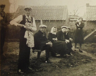 Vintage French Photograph - Man Wearing an Apron