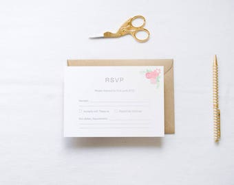 ADD ON: RSVP Cards & Envelopes | Kate Wedding Stationery Collection | Customisable Wedding Invites