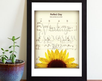 Lou Reed, Perfect Day, on Original Song  Music Sheet, Print