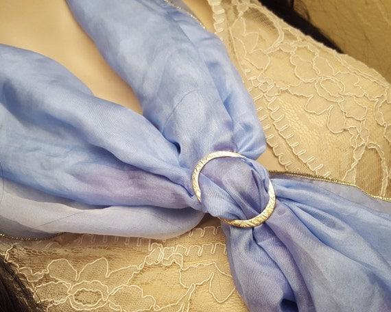 Bronze scarf ring, OOAK, SAAF08