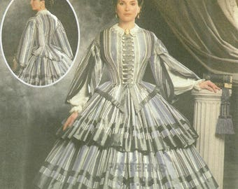 Civil War Period Antebellum Dress Pattern Simplicity 9761 Multiple Sizes Unused FF