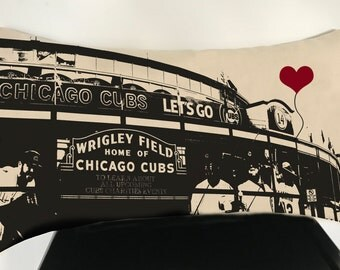 Chicago Cubs Wrigley Field Rectangular Canvas Throw Pillow