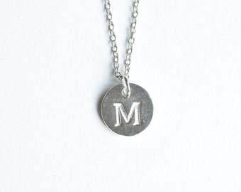 Initial Necklace, Silver Monogram Jewelry