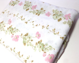 Floral Print Knit Fabric, 1 Yard Mystery Sewing Fabric, Dainty Floral Vine Print Fabric, Sewing Notions