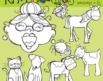 KPM Old lady who swallowed a Fly Digital Stamps