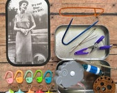 It's not Dior, it's DIY: The Knitter's Tool Tin for your knitting/crochet/travel/airplane/project bag